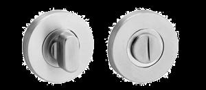 Toiletgarnituur rvs, rond rozet