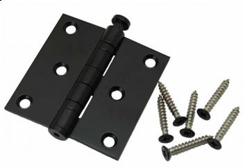 Kogelscharnier zwart, 76x76mm, rechte hoek