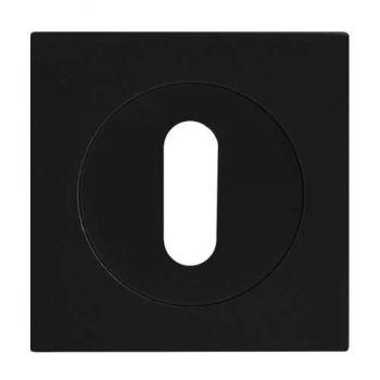 Sleutel rozet mat zwart 3-delig vierkant