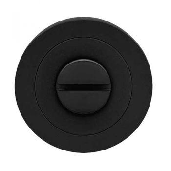 Toilet garnituur 3 delig, mat zwart, rond
