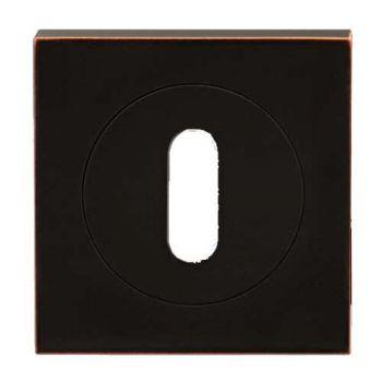 Sleutel rozet antiek brons 3-delig vierkant